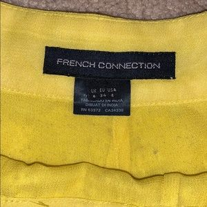 French Connection Shorts - French Connection Beaded Yellow Shorts